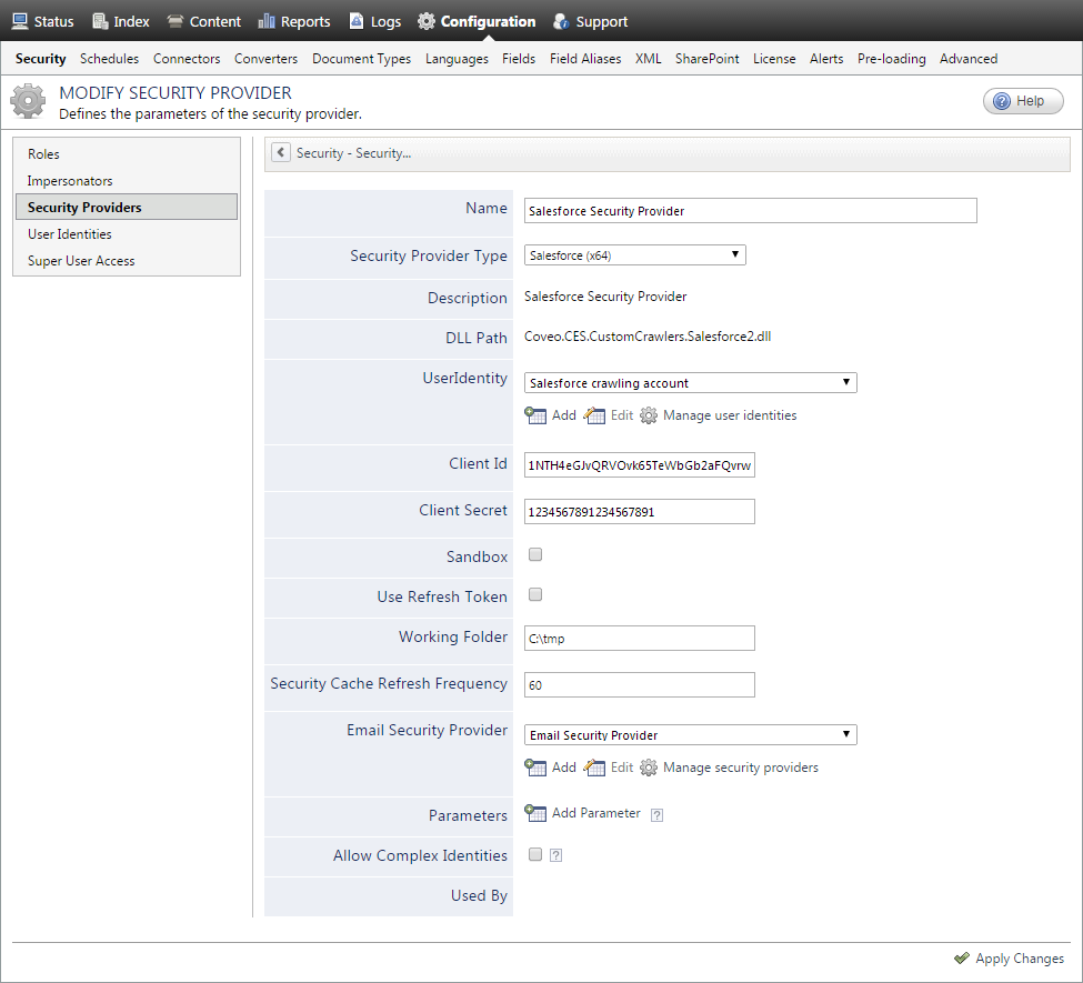 Configuring a Salesforce Security Provider - Coveo Platform