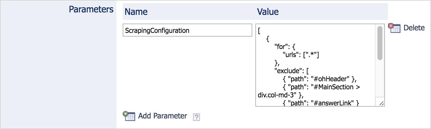 modifying hidden sitemap source parameters coveo platform 7