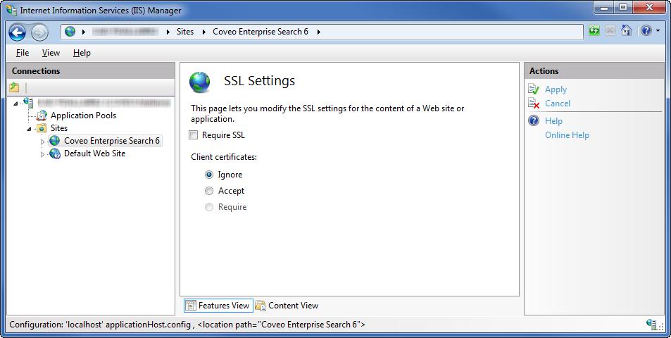 Enabling SSL in IIS - Coveo Platform 7 - Online Help