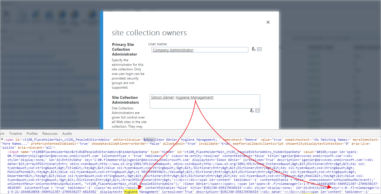 Adding the Personal Sites Collections Owner Permissions for