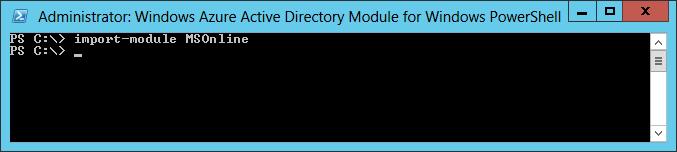 Installing the Windows Azure AD Module for Windows